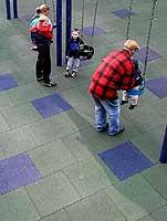 Interlocking Rubber Playground Tiles