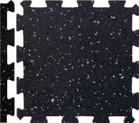 Rubber Interlocking Floor Tiles With Borders