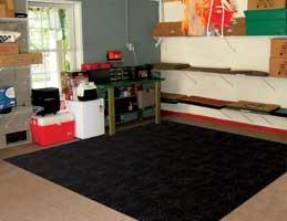 Rubber Interlocking Utility Flooring