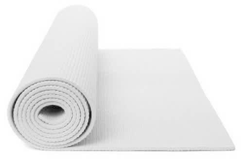 White Yoga Mat