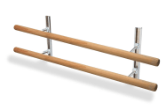 Ballet Bar - Double Barres Adjustable, 10', 14', 16' or Custom