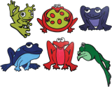 Poly Pads - Frogs (Set of 6)