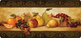 Cushion Comfort Kitchen Mat - Gourmet Fruit