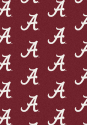 Alabama Crimson Tide (Crimson Background) - Sports Team Rug