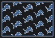 Detroit Lions (Gray Background) - Sports Team Rug