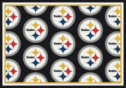 Pittsburgh Steelers (Black Background) - Sports Team Rug
