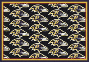Baltimore Ravens (Black Background) - Sports Team Rug