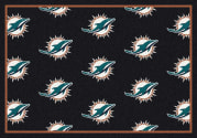 Miami Dolphins (Orange Background) - Sports Team Rug