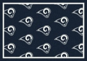 Los Angeles Rams (Blue Background) - Sports Team Rug