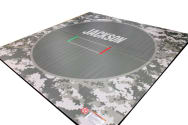 Wrestling Mat with Custom Design