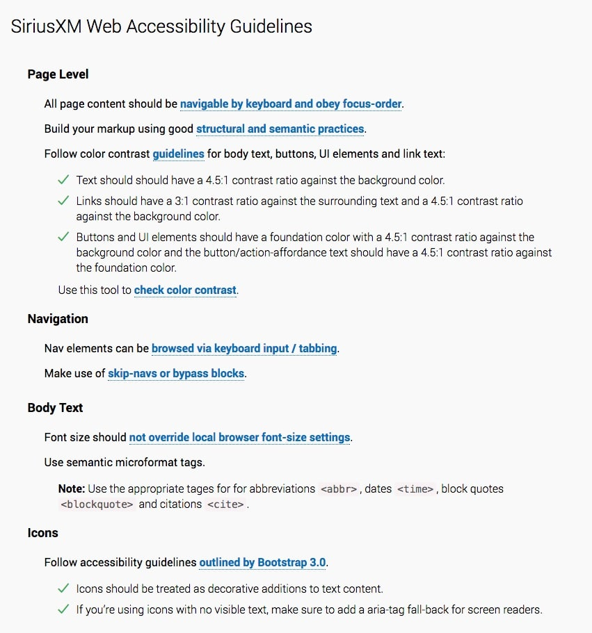 WCAG 2.0 AA Guidelines