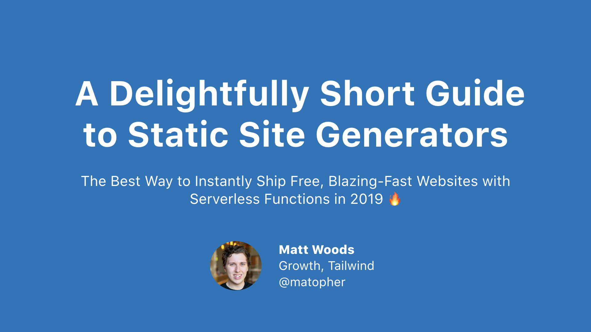 A Delightfully Short Guide to Static Site Generators cover image