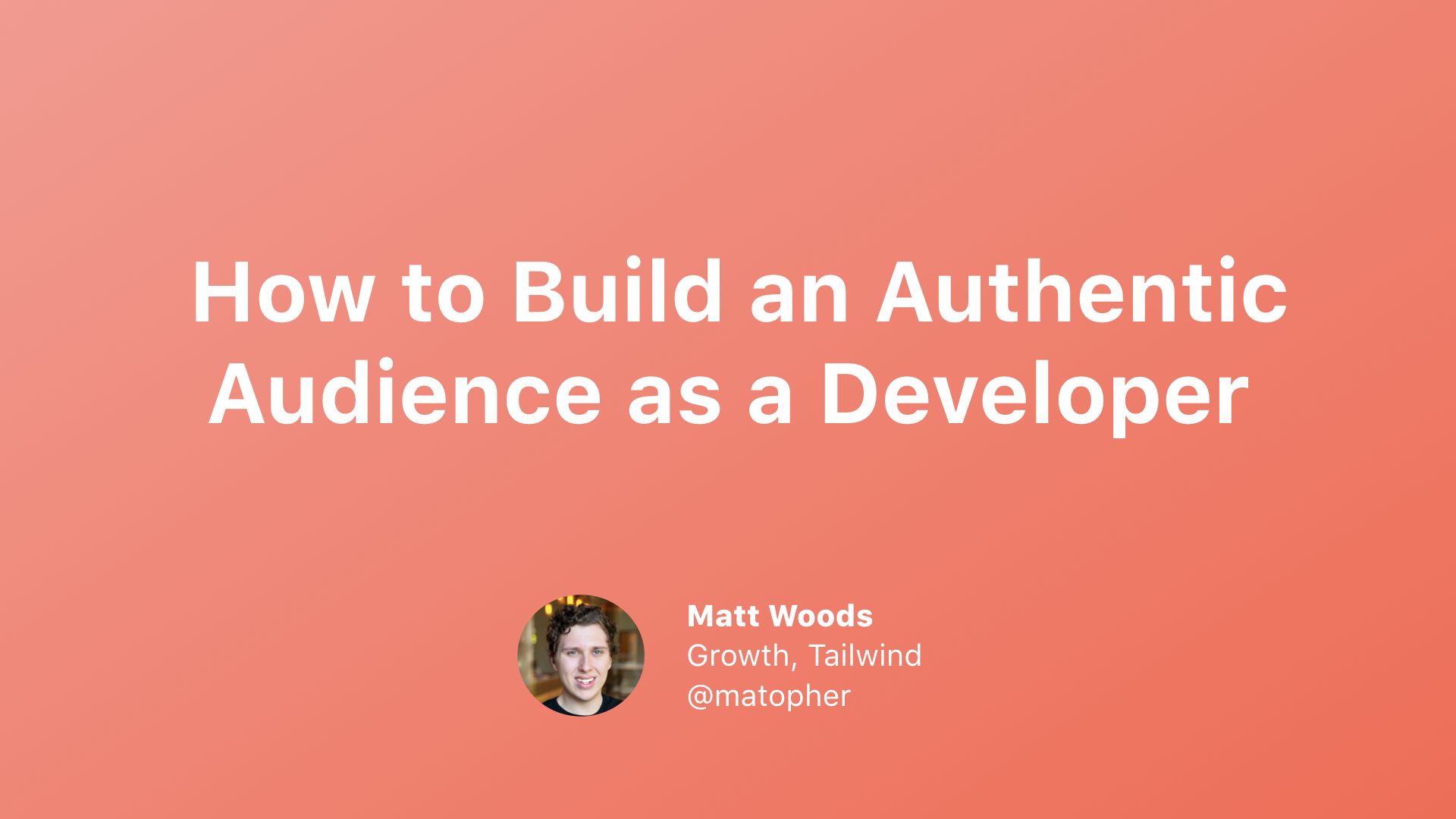 How to Build an Authentic Audience as a Developer cover image