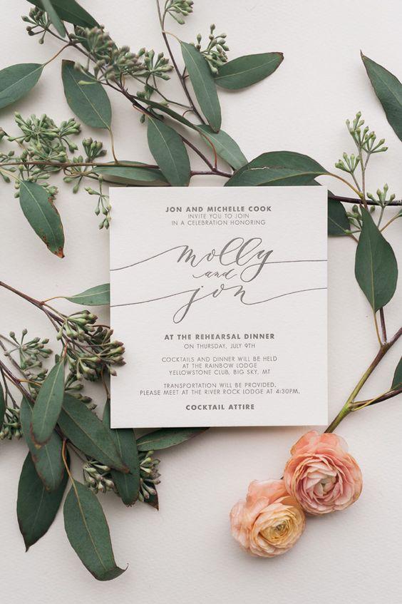 Mẫu thiệp cưới đẹp nổi bật với kiểu chữ