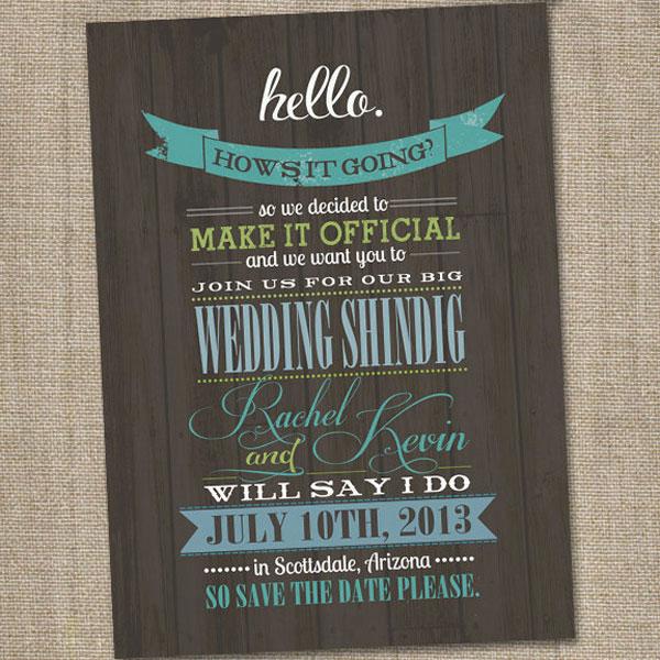 thiệp cưới mang phong cách vintage
