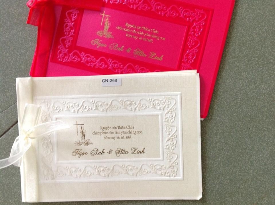Thiệp cưới Thiên Chúa Giáo