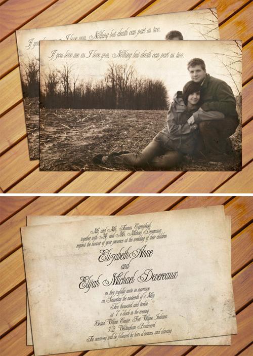 Thiệp cưới dạng postcard