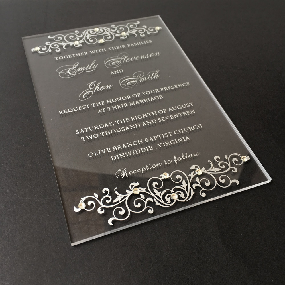 Mẫu thiệp cưới Acrylic