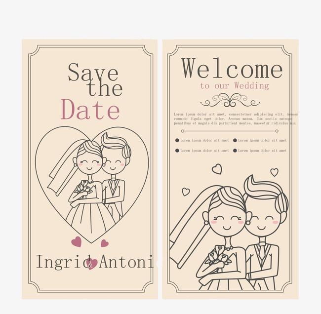 Mẫu thiệp cưới dễ thương
