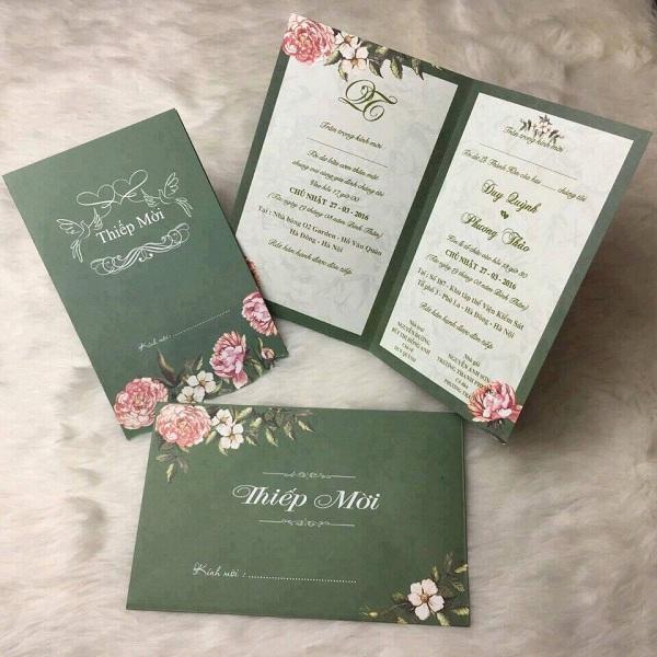 Mẫu thiệp cưới Greenery