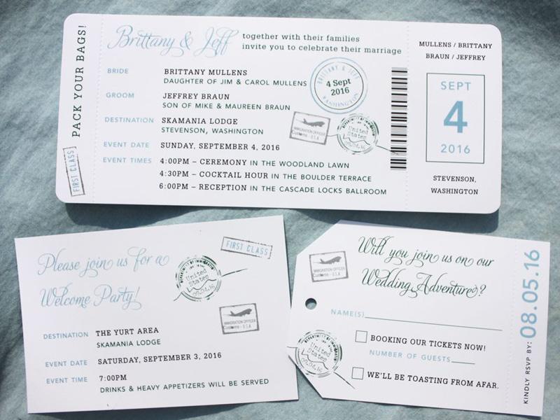 Ý nghĩa và sự độc lạ với mẫu thiệp cưới kiểu vé máy bay