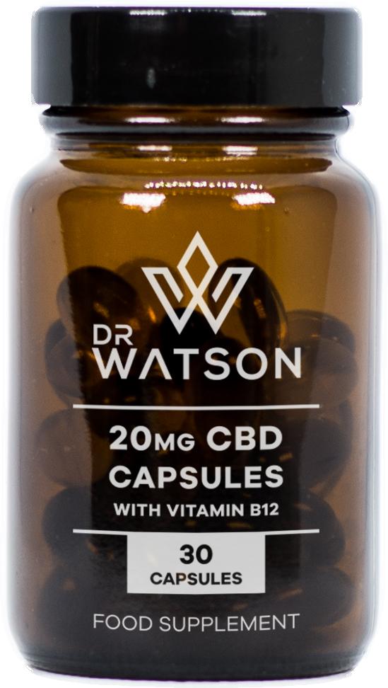 CBD and Vitamin B12 Capsules Supplements