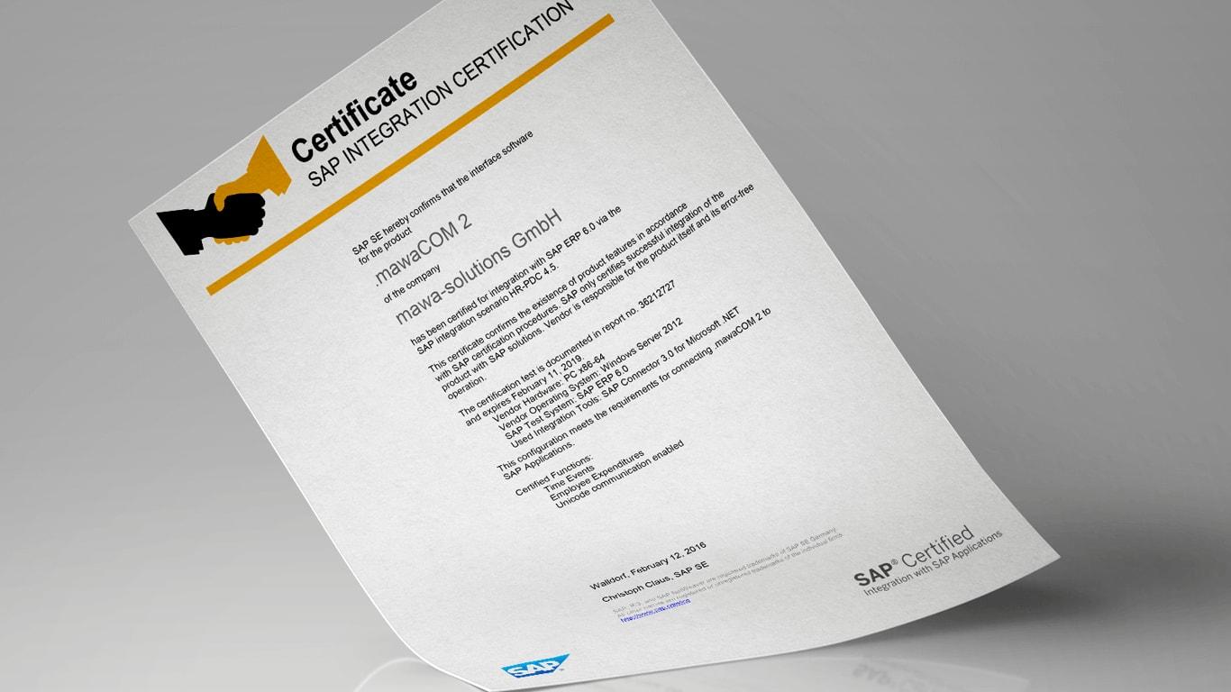.mawaCOM v2 SAP zertifiziert