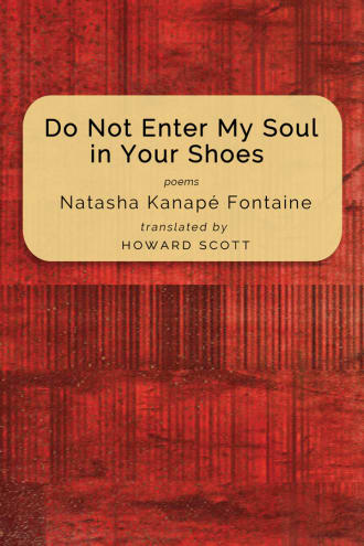 Do Not Enter My Soul in Your Shoes cover, a yellow block on a red textured background