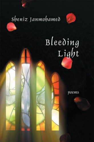 Bleeding Light cover, a photo of light coming through a stained glass window