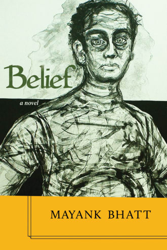 Belief cover, painting of a man in green