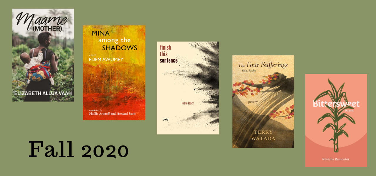 Fall 2020 covers on green background