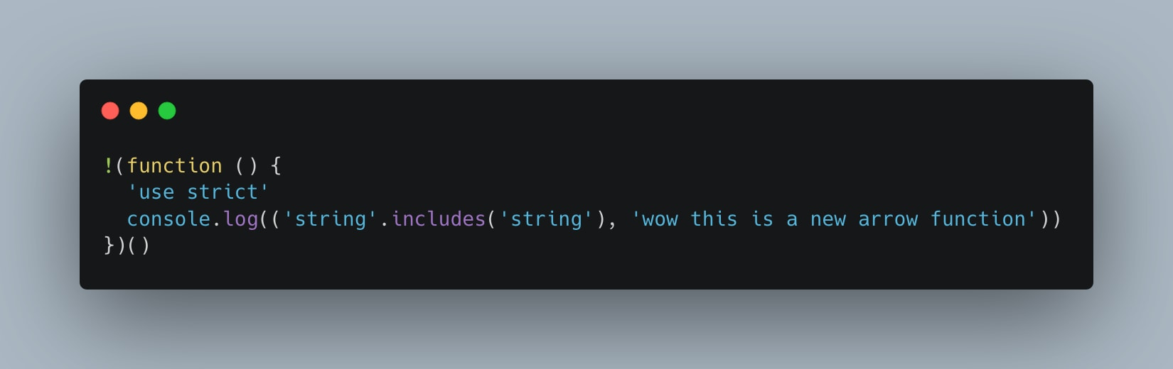 Minified code for my babel compiled code with a set browserslist