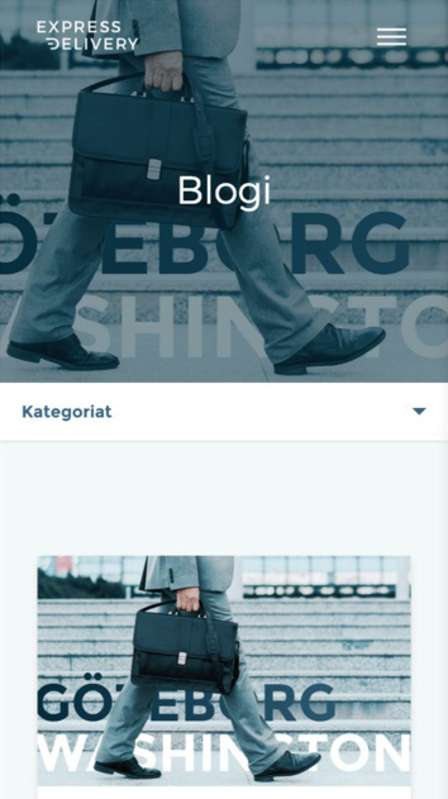 Website redesign - Blog page for Finland version