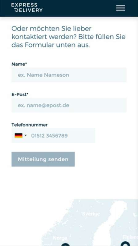 Website redesign - German contact page