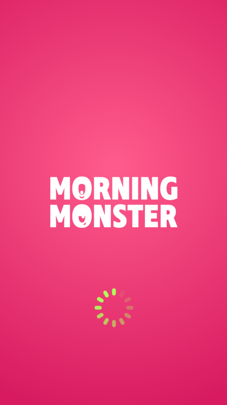 Digital Product - Pink loading screen for app design with Morning monster logotype