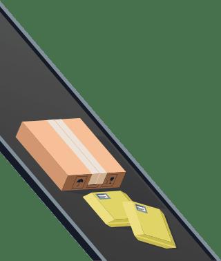 Sendify logistics illustrations - DHL Service Point example