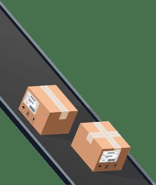 Sendify logistics illustrations - DHL Parcel example