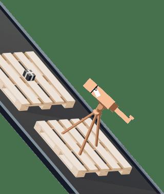 Sendify logistics illustrations - DHL stycke example