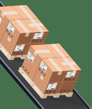 Sendify logistics illustrations - DHL Parti example