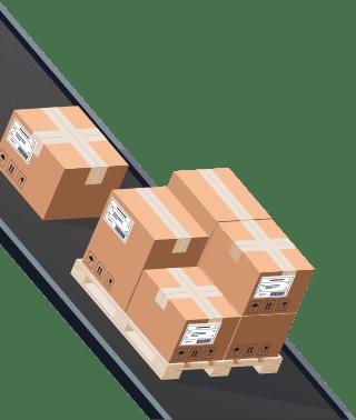 Sendify logistics illustrations - TNT Express example