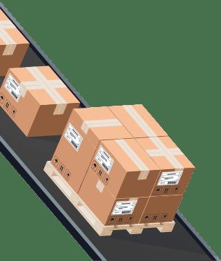 Sendify logistics illustrations - TNT Economy Express example