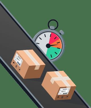 Sendify logistics illustrations - TNT Express 10.00 example