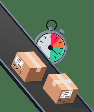 Sendify logistics illustrations - TNT Express 12.00 example