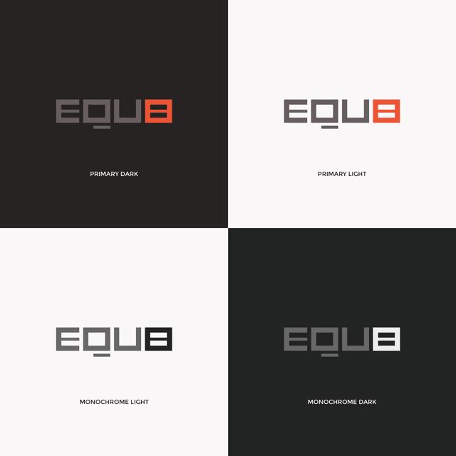 Branding Equ8 - Four logotype examples