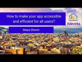 Meetup con Maya Shavin de Cloudinary
