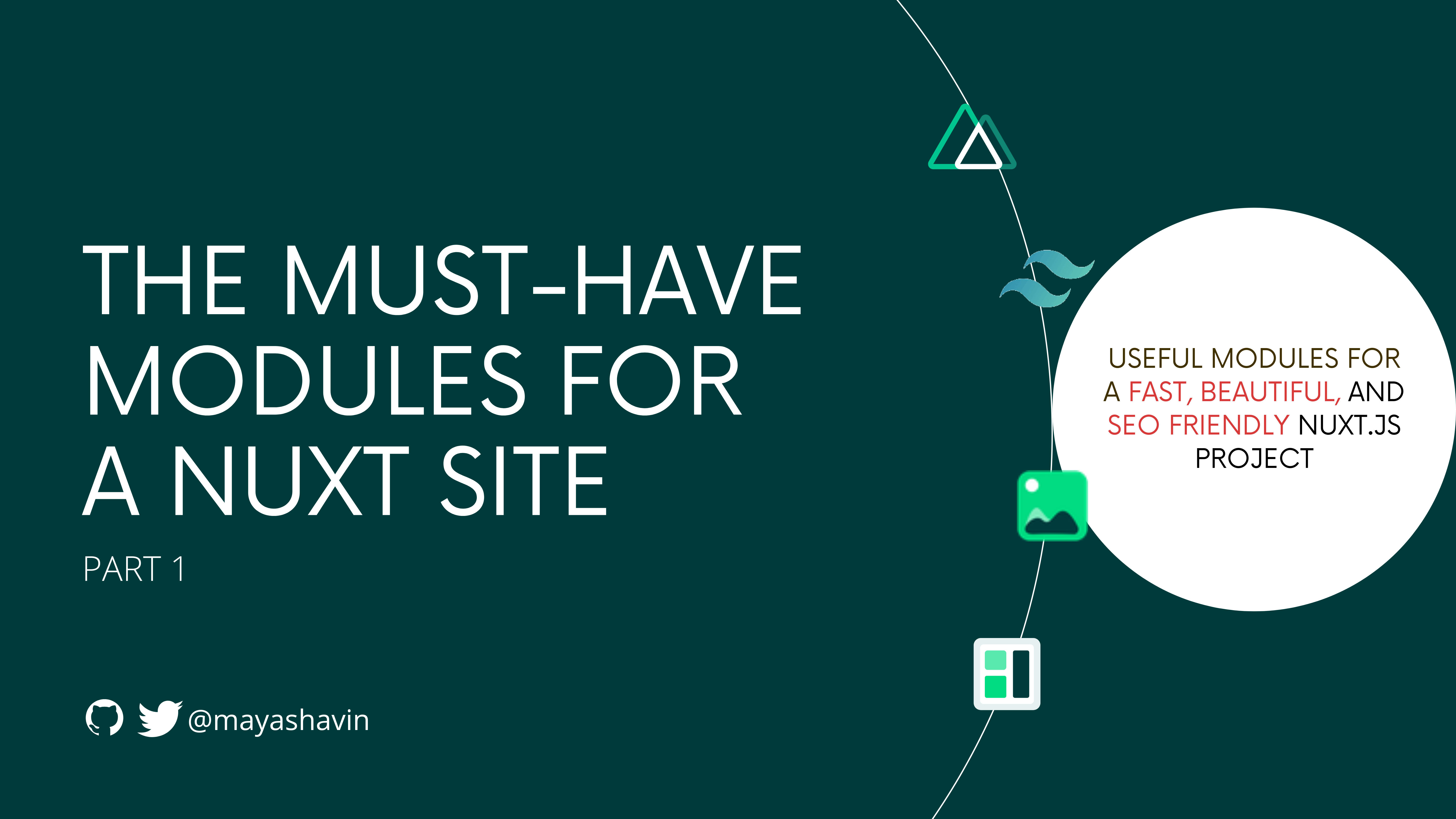 The must-have modules for a Nuxt site (P.1)