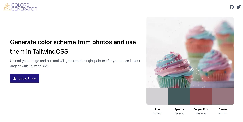 Color generator tool screenshot