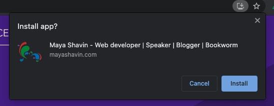 Example installable progressive web app
