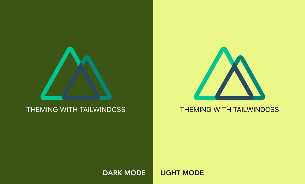 Design of dark and light mode