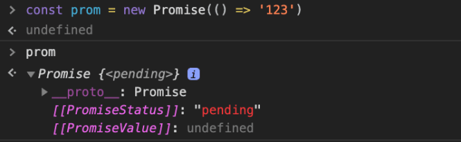 "Promise is always in ""pending"" since no resolve() or reject() is called"